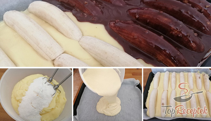Recept Bögrés banana split